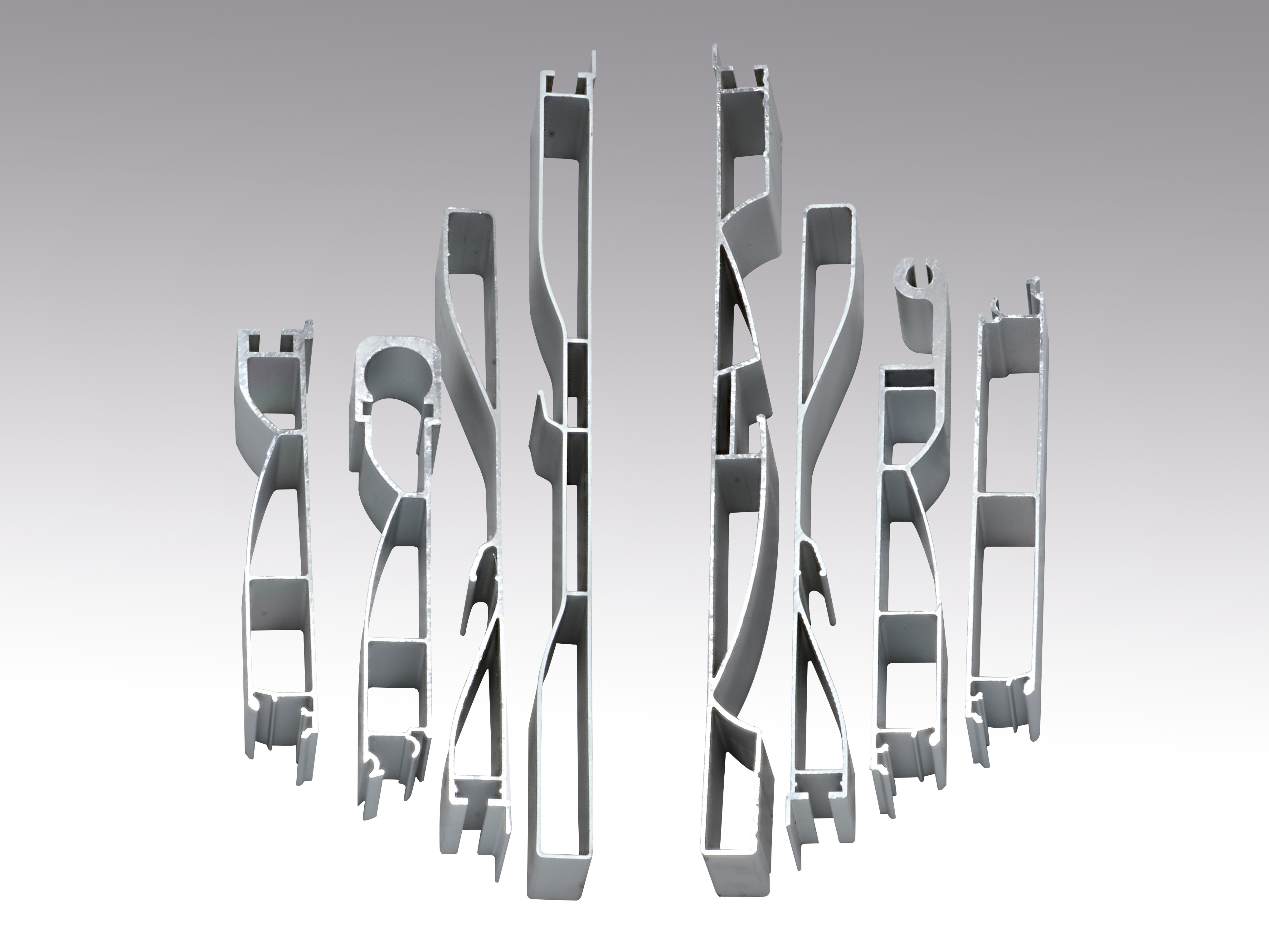 Anodized aluminium profiles for sideboards